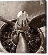Vintage B-17 Acrylic Print by Adam Romanowicz