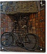 Vintage Bicycle Acrylic Print by Susan Candelario