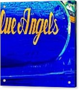 Vintage Blue Angel Acrylic Print by Benjamin Yeager