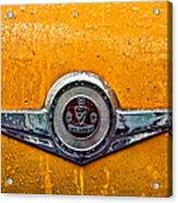 Vintage Checker Taxi Acrylic Print by John Farnan