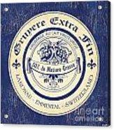 Vintage Cheese Label 5 Acrylic Print by Debbie DeWitt