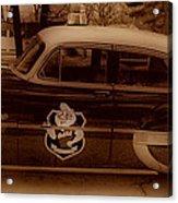 Vintage Classic D.a.r.e. Police Car Acrylic Print by Thomas  MacPherson Jr