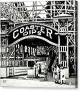 Vintage Coaster Acrylic Print by Benjamin Yeager