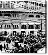 Vintage Comiskey Park - Historical Chicago White Sox Black White Picture Acrylic Print by Horsch Gallery