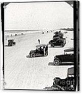 Vintage Daytona Beach Florida Acrylic Print by Edward Fielding
