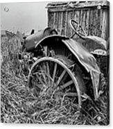 Vintage Farm Tractor Acrylic Print by Theresa Tahara