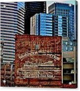 Vintage Ferry Advertisement Acrylic Print by Benjamin Yeager