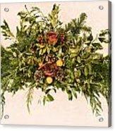 Vintage Floral Arrangement Acrylic Print by Olivier Le Queinec