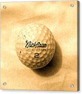 Vintage Golf Ball Acrylic Print by Anita Lewis