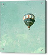 Vintage Inspired Hot Air Balloon In Red White And Blue Acrylic Print by Brooke Ryan