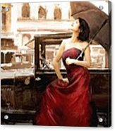 Vintage Lady Acrylic Print by Robert Smith