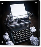 Vintage Manual Typewriter Acrylic Print by Edward Fielding
