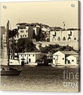 Vintage Marseille Sailing Acrylic Print by John Rizzuto