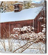 Vintage New England Barn Acrylic Print by Bill Wakeley
