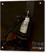 Vintage Number 18 Spark Plug Acrylic Print by Wilma  Birdwell