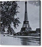Vintage Paris Acrylic Print by Georgia Fowler