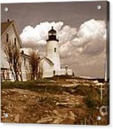 Vintage Pemaquid Point Lighthose Acrylic Print by Skip Willits
