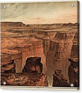 Vintage Print Of The Grand Canyon By William Henry Holmes - 1882 Acrylic Print by Blue Monocle