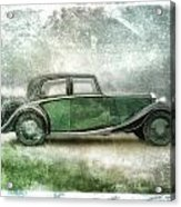 Vintage Rolls Royce Acrylic Print by David Ridley