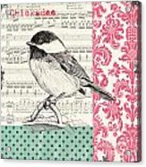Vintage Songbird 3 Acrylic Print by Debbie DeWitt
