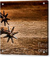 Vintage Spurs Acrylic Print by Olivier Le Queinec