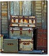 Vintage Trunks   Sold Acrylic Print by Marcia Lee Jones