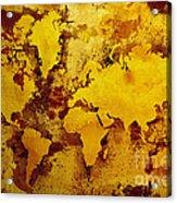 Vintage World Map Acrylic Print by Zaira Dzhaubaeva