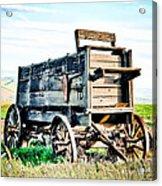 Vintaged Covered Wagon Acrylic Print by Athena Mckinzie