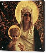Virgin And Child Acrylic Print by Antoine Auguste Ernest Herbert