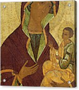Virgin And Child Acrylic Print by Russian School