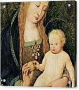 Virgin And Child With Pomegranate Acrylic Print by Hans Holbein the Younger
