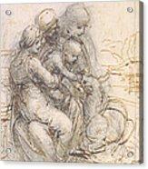 Virgin And Child With St. Anne Acrylic Print by Leonardo da Vinci