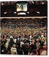 Virginia Fans Storm Court At John Paul Jones Arena Acrylic Print by Replay Photos