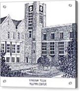 Virginia Tech Acrylic Print by Frederic Kohli