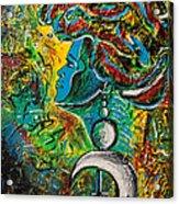 Visage Bleu Acrylic Print by Pierre Louis