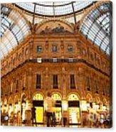 Vittorio Emanuele II Gallery Milan Italy Acrylic Print by Michal Bednarek