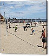 Volleyball At The Santa Cruz Beach Boardwalk California 5d23837 Acrylic Print by Wingsdomain Art and Photography