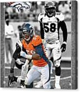 Von Miller Broncos Acrylic Print by Joe Hamilton