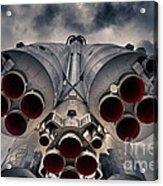 Vostok Rocket Engine Acrylic Print by Stelios Kleanthous