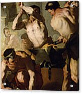 Vulcans Forge Acrylic Print by Luca Giordano