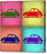 Vw Beetle Pop Art 1 Acrylic Print by Naxart Studio