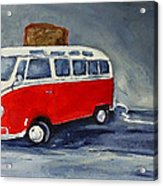 Vw Bus Toaster Acrylic Print by Sunny Avocado