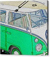 Vw Surf Bus Acrylic Print by Cheryl Young