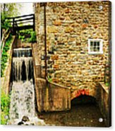 Wagner Grist Mill Acrylic Print by Paul Ward