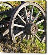 Wagon Wheels Acrylic Print by Steven Parker