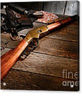 Waiting For The Gunfight Acrylic Print by Olivier Le Queinec