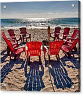 Waiting For The Party Acrylic Print by Peter Tellone