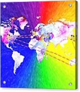 Walk The World Acrylic Print by Daniel Janda