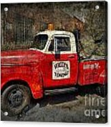 Wally's Towing Acrylic Print by David Arment