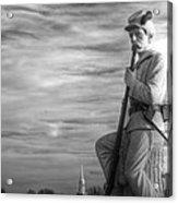 War Fighters - 149th Pa Infantry 1st Regiment Bucktail Brigade-a1 Near Mc Pherson Barn Gettysburg Acrylic Print by Michael Mazaika